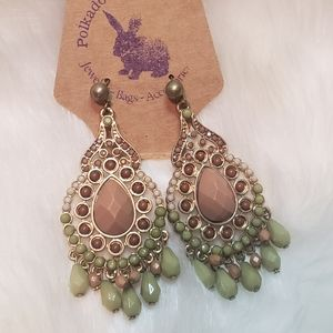Muted Shades Statement Earrings
